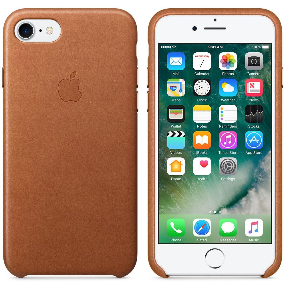 Etui téléphone Apple Coque en cuir Havane Apple iPhone 7  Coque en cuir pour Apple iPhone 7