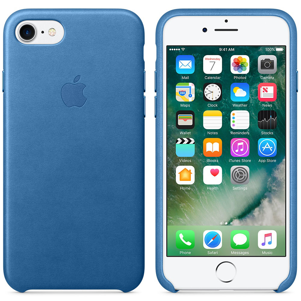 apple coque en cuir bleu m diterran e apple iphone 7 etui t l phone apple sur. Black Bedroom Furniture Sets. Home Design Ideas