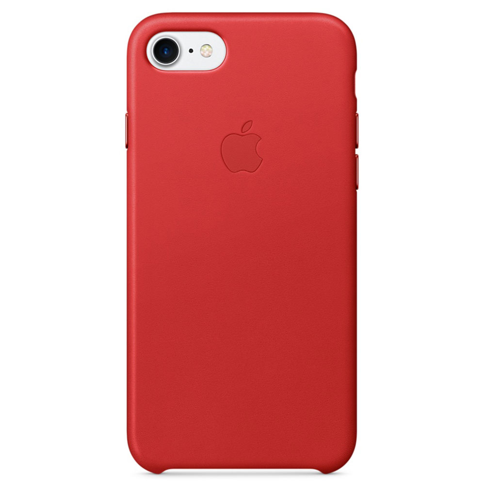 Coque Iphone  Rouge Cuir