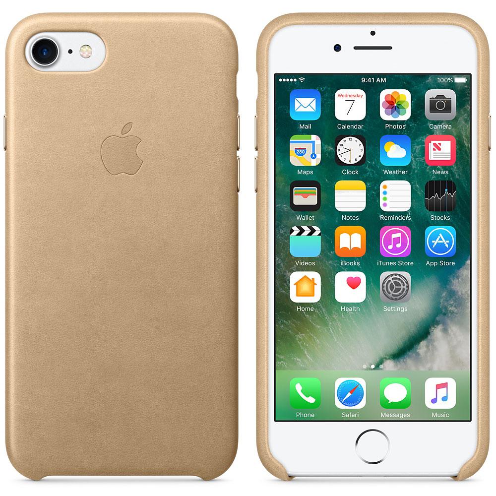 Etui téléphone Apple Coque en cuir Fauve Apple iPhone 7  Coque en cuir pour Apple iPhone 7