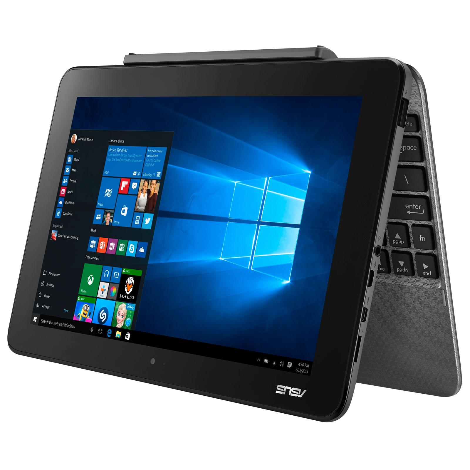 asus transformer book t101ha gr029t gris avec clavier pc portable asus sur. Black Bedroom Furniture Sets. Home Design Ideas