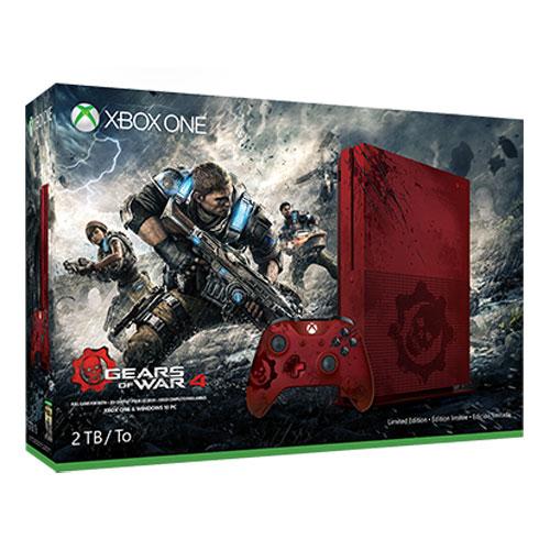 Console Xbox One Microsoft Xbox One S (2 To) + Gears of War 4 - Édition Limitée Console de jeux-vidéo 4K nouvelle génération avec disque dur 2 To + Gears of War 4 - Édition Limitée
