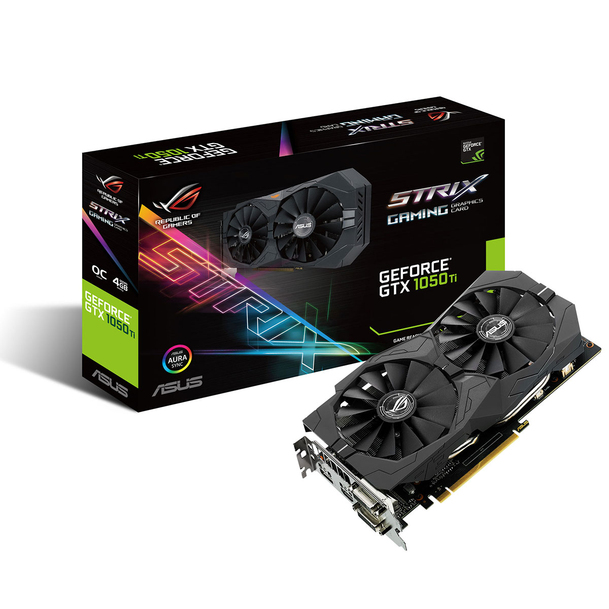 asus rog strix geforce gtx 1050 ti dition oc carte graphique asus sur. Black Bedroom Furniture Sets. Home Design Ideas
