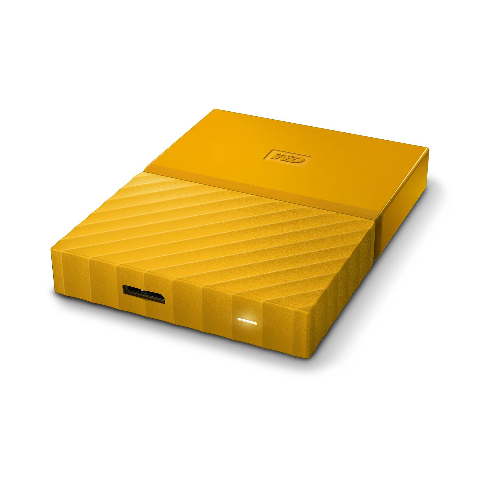 wd my passport 2 to jaune usb 3 0 disque dur externe western digital sur. Black Bedroom Furniture Sets. Home Design Ideas