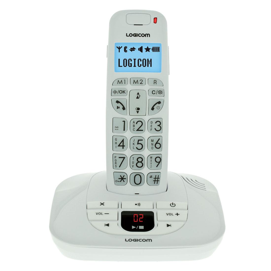 logicom confort 155t blanc t l phone sans fil logicom sur. Black Bedroom Furniture Sets. Home Design Ideas