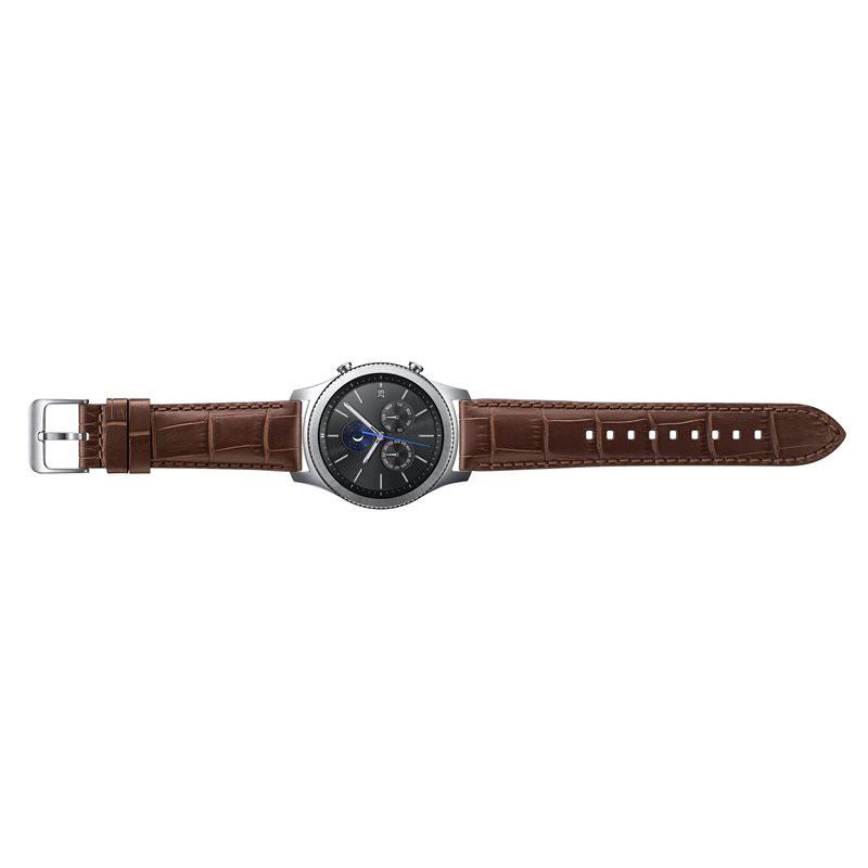 samsung bracelet alligator gear s3 marron montre. Black Bedroom Furniture Sets. Home Design Ideas