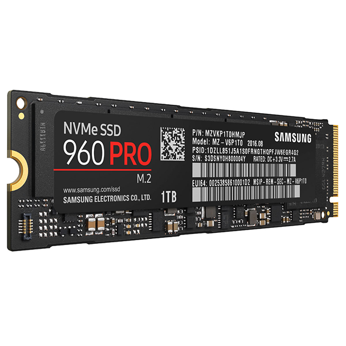 samsung ssd 960 pro m 2 pcie nvme 1 to disque ssd samsung sur. Black Bedroom Furniture Sets. Home Design Ideas