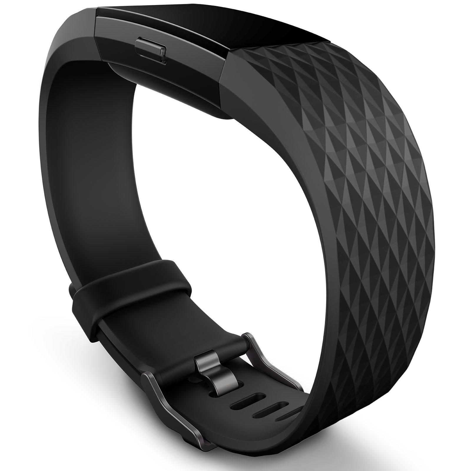 fitbit charge 2 noir m tal s bracelet connect fitbit sur. Black Bedroom Furniture Sets. Home Design Ideas