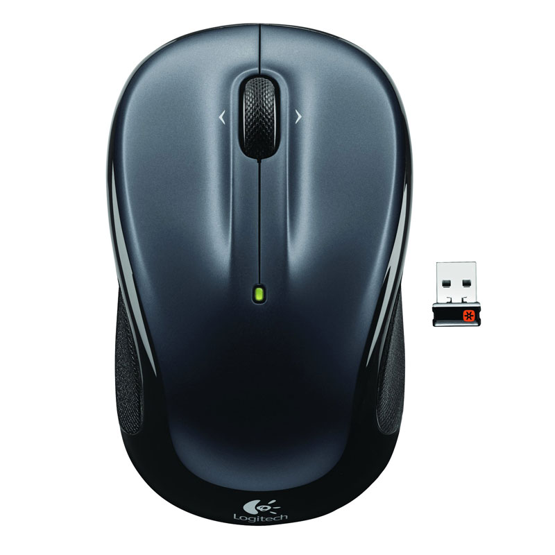 Souris PC Logitech Wireless Mouse M325 (Dark Silver) Souris sans fil - ambidextre - capteur optique 1000 dpi - 3 boutons