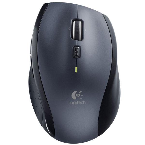 Souris PC Logitech Marathon Mouse M705 (Argent) Souris sans fil - droitier - capteur laser 1000 dpi - 7 boutons