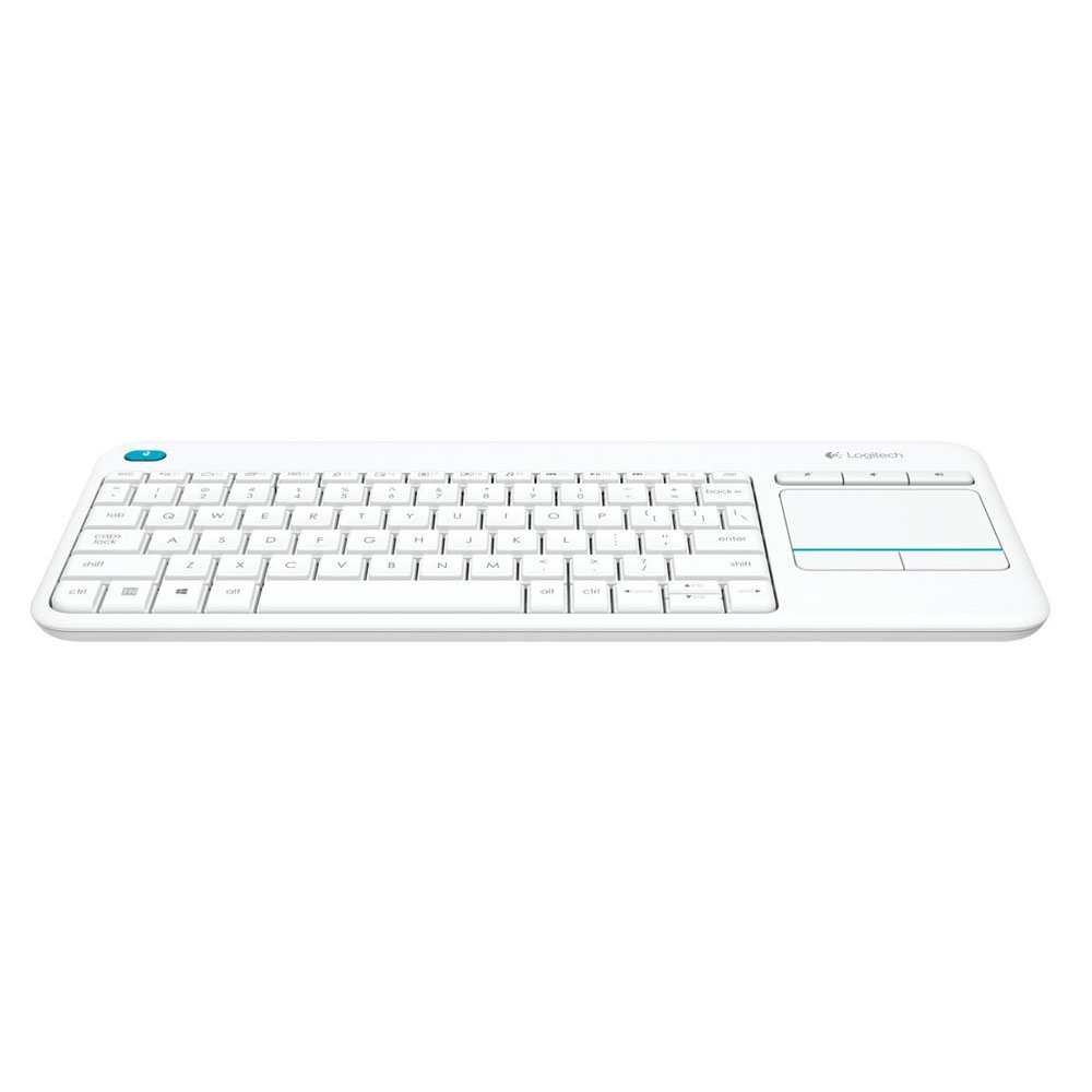 Logitech Wireless Touch Keyboard K400 Plus Blanc Clavier Pc White Key 1 Sans Fil Pav Tactile Compatible Android Azerty Franais