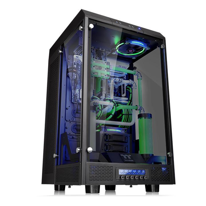 Boîtier PC Thermaltake The Tower 900 - Noir Boîtier Grand Tour avec fenêtre en verre trempé