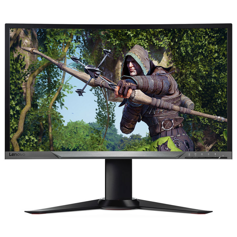 Lenovo 27 led y27f curved gaming ecran pc lenovo sur for Dalle ips va