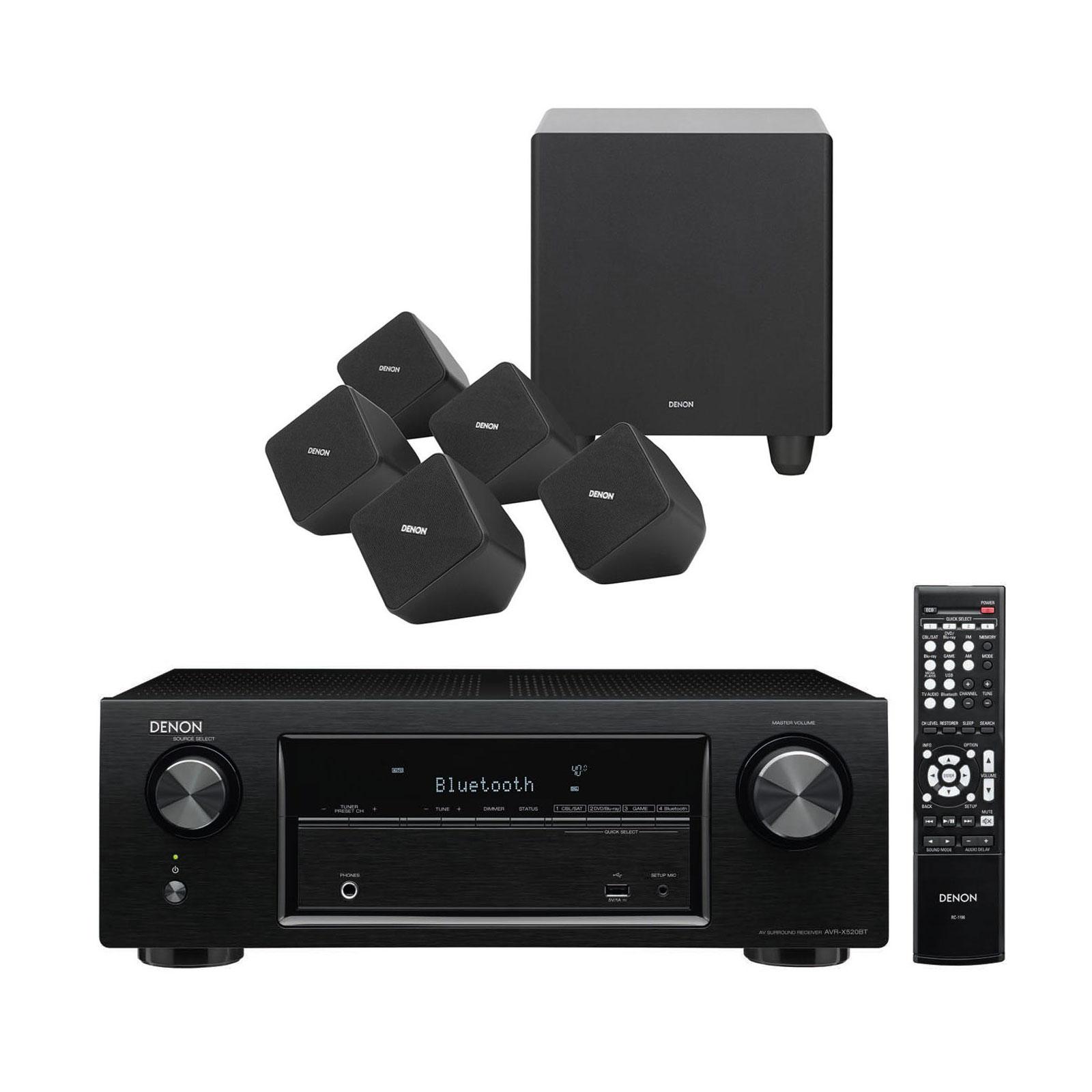 Denon Avr X520bt Sys 2020 Ensemble Home Cin Ma Denon Sur Ldlc Com # Meuble Tv Pour Ampli Home Cinema