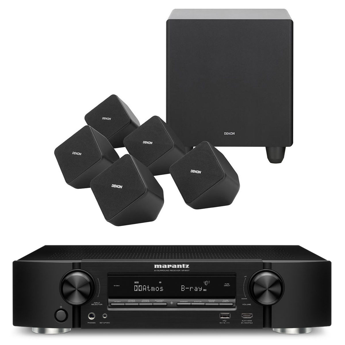 marantz nr1607 noir denon sys 2020 ensemble home cin ma marantz sur. Black Bedroom Furniture Sets. Home Design Ideas
