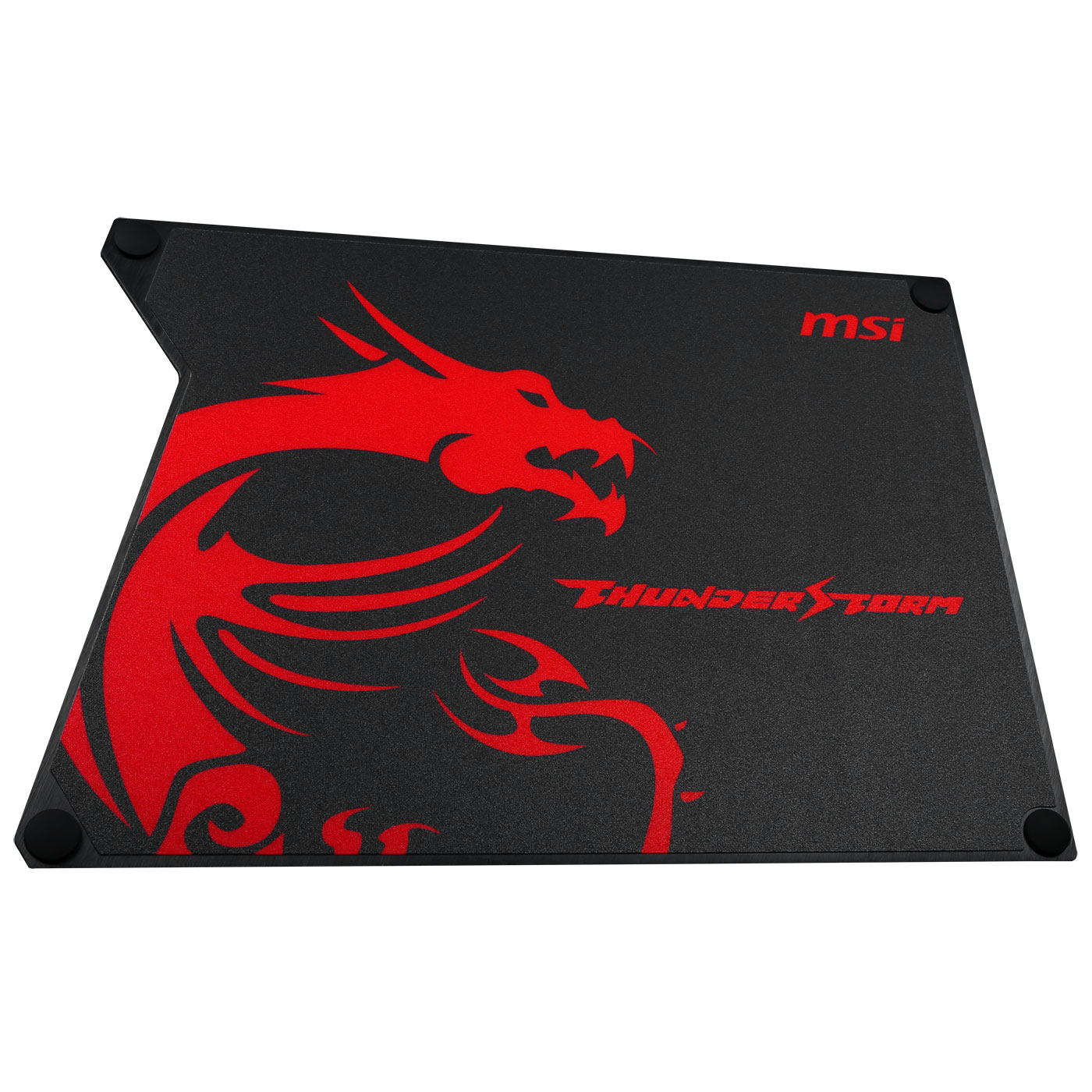 msi thunderstorm tapis de souris gaming rversible rigide surface en aluminium anodis patins en silicone format standard 320 x 225 x 2 mm - Tapis De Souris Gamer