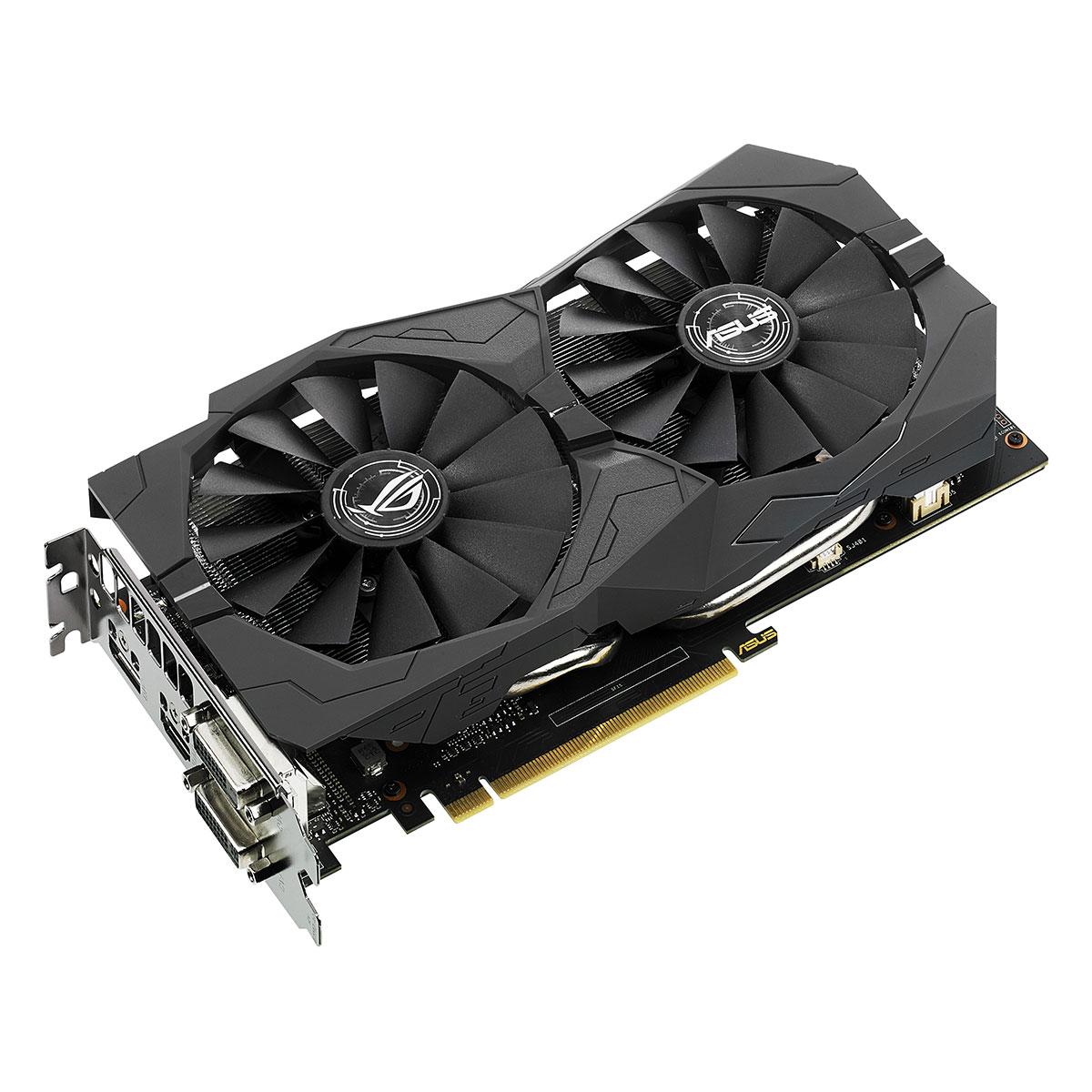 Carte graphique ASUS GeForce GTX 1050 Ti - ROG STRIX-GTX1050TI-4G-GAMING 4096 Mo Dual DVI/HDMI/DisplayPort - PCI Express (NVIDIA GeForce avec CUDA GTX 1050 Ti)