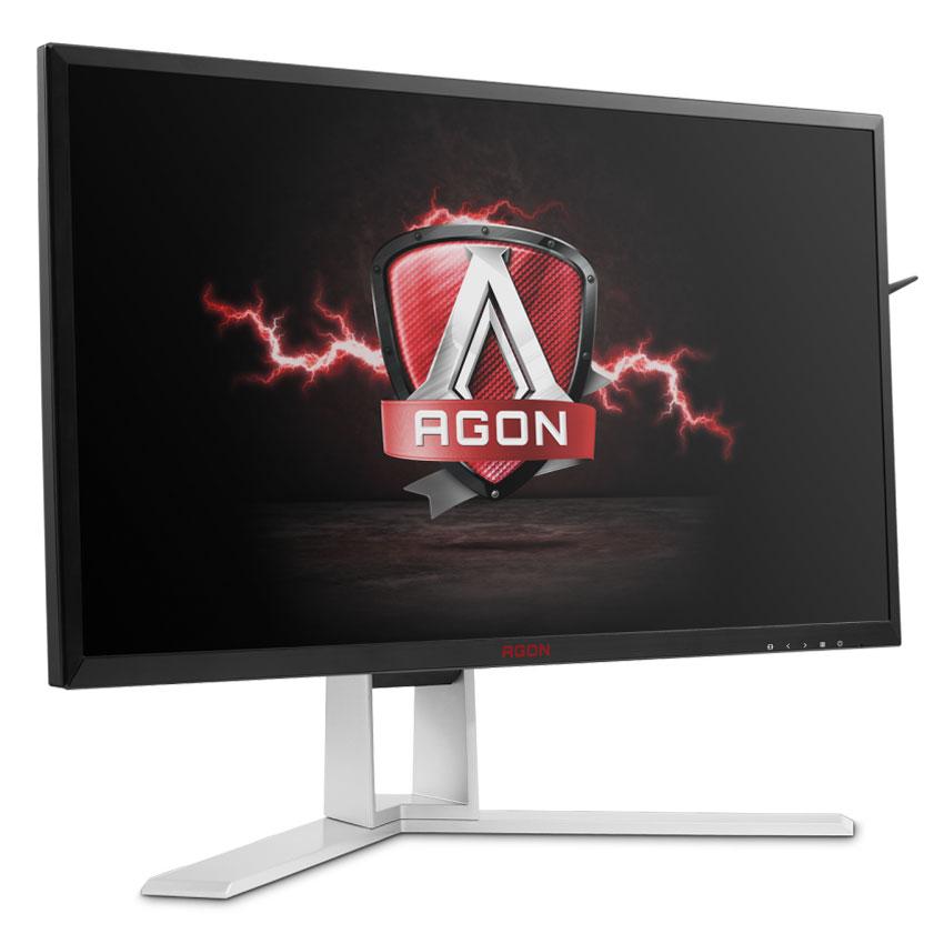 """Ecran PC AOC 24"""" LED - AGON AG241QX 2560 x 1440 pixels - 1 ms (gris à gris) - Format large 16/9 - 144 Hz - DisplayPort - HDMI - Pivot - MHL - Hub 3.0 - Noir/Argent"""