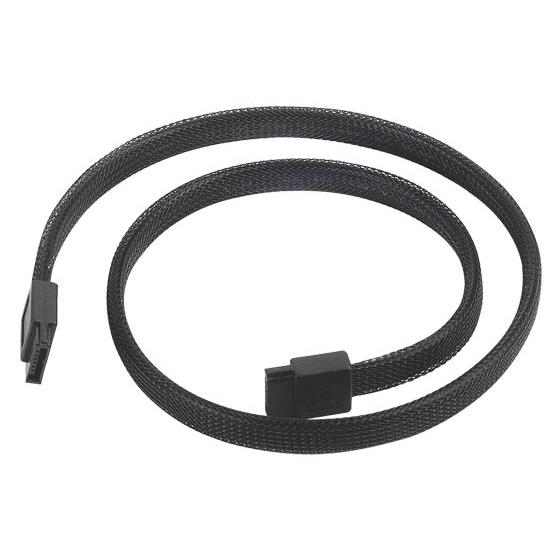 Serial ATA SilverStone CP07 (Noir, 50 cm) Câble SATA compatible SATA 3.0 (6 Gb/s)