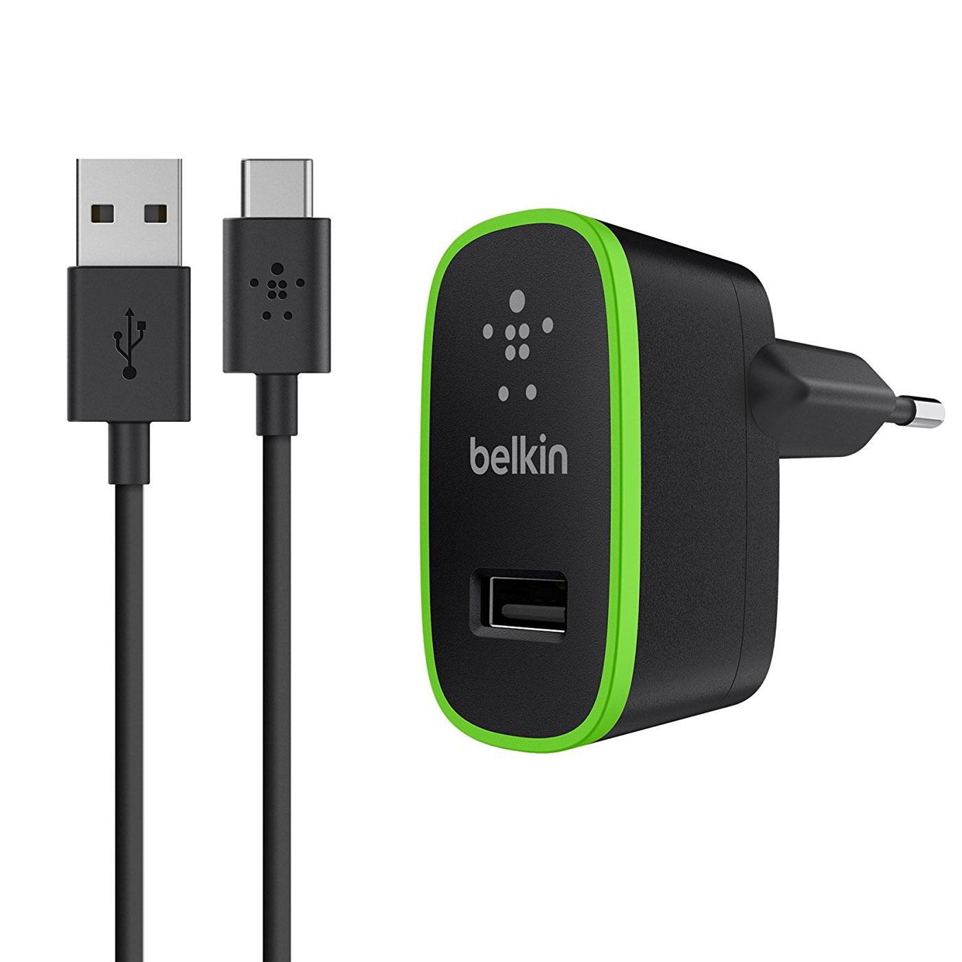 Chargeur téléphone Belkin Chargeur secteur universel Noir (F7U001VF06) Chargeur secteur universel 10W avec câble USB-C vers USB-A