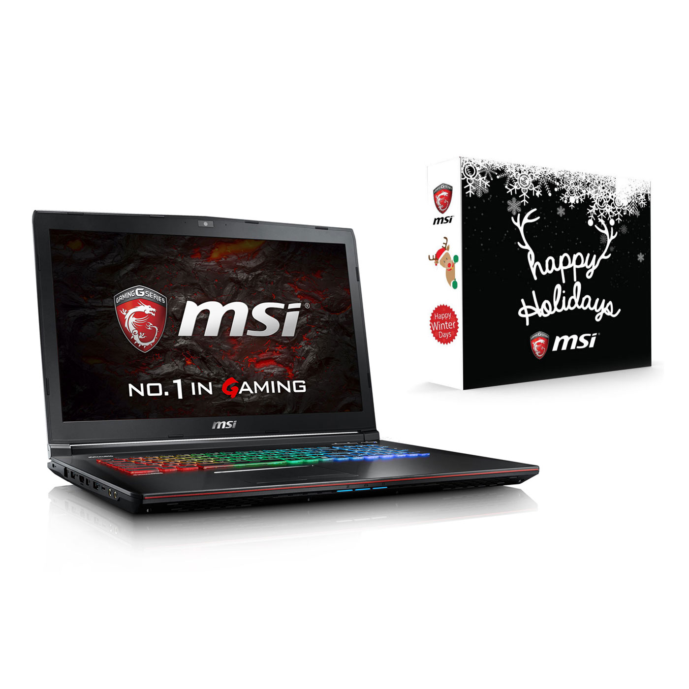 "PC portable MSI GE72VR 6RF-238XFR Apache Pro + X'mas Pack MSI for GE OFFERT ! Intel Core i5-6300HQ 8 Go SSD 128 Go + HDD 1 To 17.3"" LED Full HD 120 Hz NVIDIA GeForce GTX 1060 Graveur DVD Wi-Fi AC/Bluetooth Webcam FreeDOS (garantie constructeur 2 ans)"