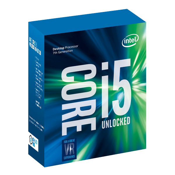 Processeur Intel Core i5-7600K (3.8 GHz) Processeur Quad Core Socket 1151 Cache L3 6 Mo Intel HD Graphics 630 0.014 micron (version boîte sans ventilateur - garantie Intel 3 ans)