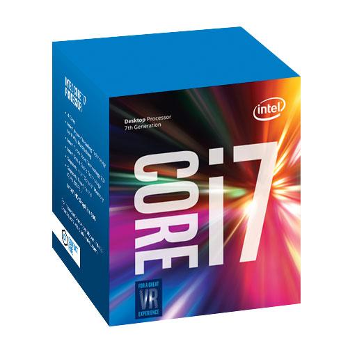 Processeur Intel Core i7-7700 (3.6 GHz) Processeur Quad Core Socket 1151 Cache L3 8 Mo Intel HD Graphics 630 0.014 micron (version boîte - garantie Intel 3 ans)