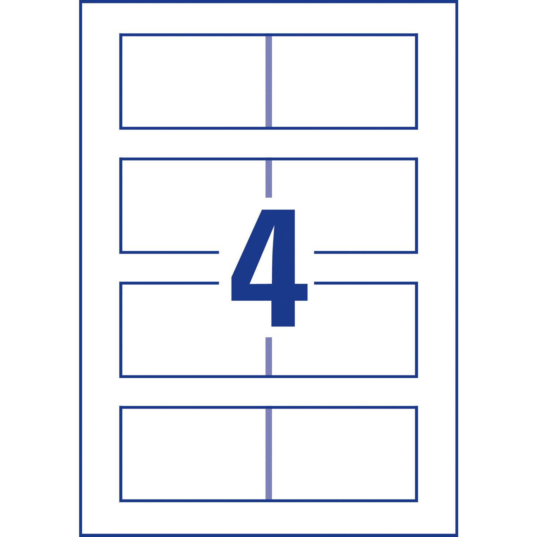 Avery QuickClean 100 Cartes De Visite 85 X 54 Mm