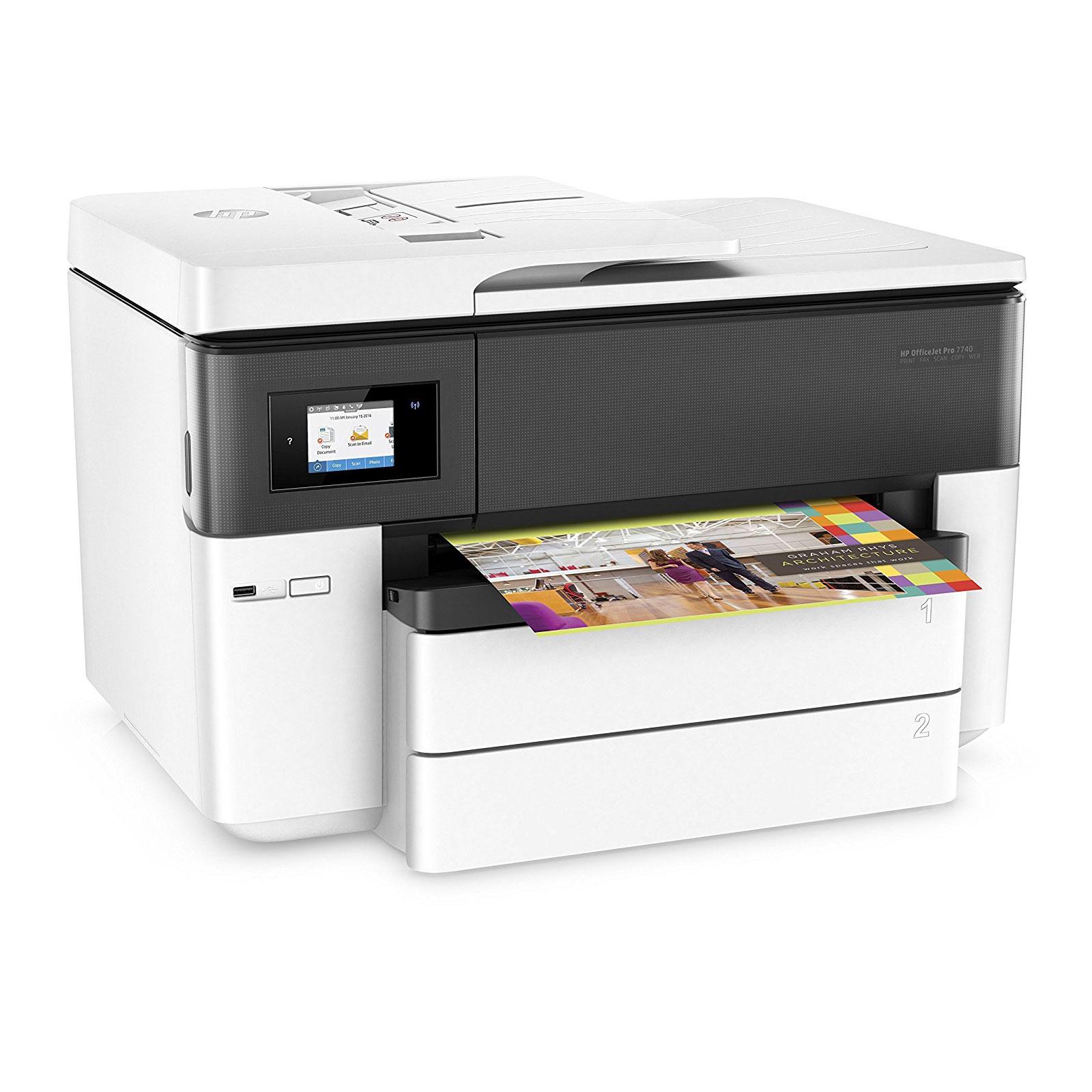 hp officejet pro 7740 imprimante multifonction hp sur. Black Bedroom Furniture Sets. Home Design Ideas