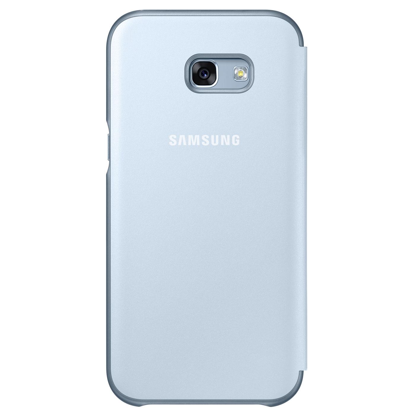 samsung flip cover neon bleu samsung galaxy a3 2017 etui t l phone samsung sur