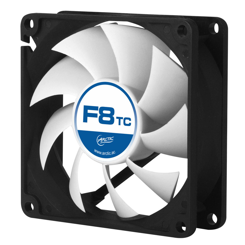 Ventilateur boîtier Arctic F8 TC Ventilateur de boîtier 80 mm haute performance avec température contrôlée