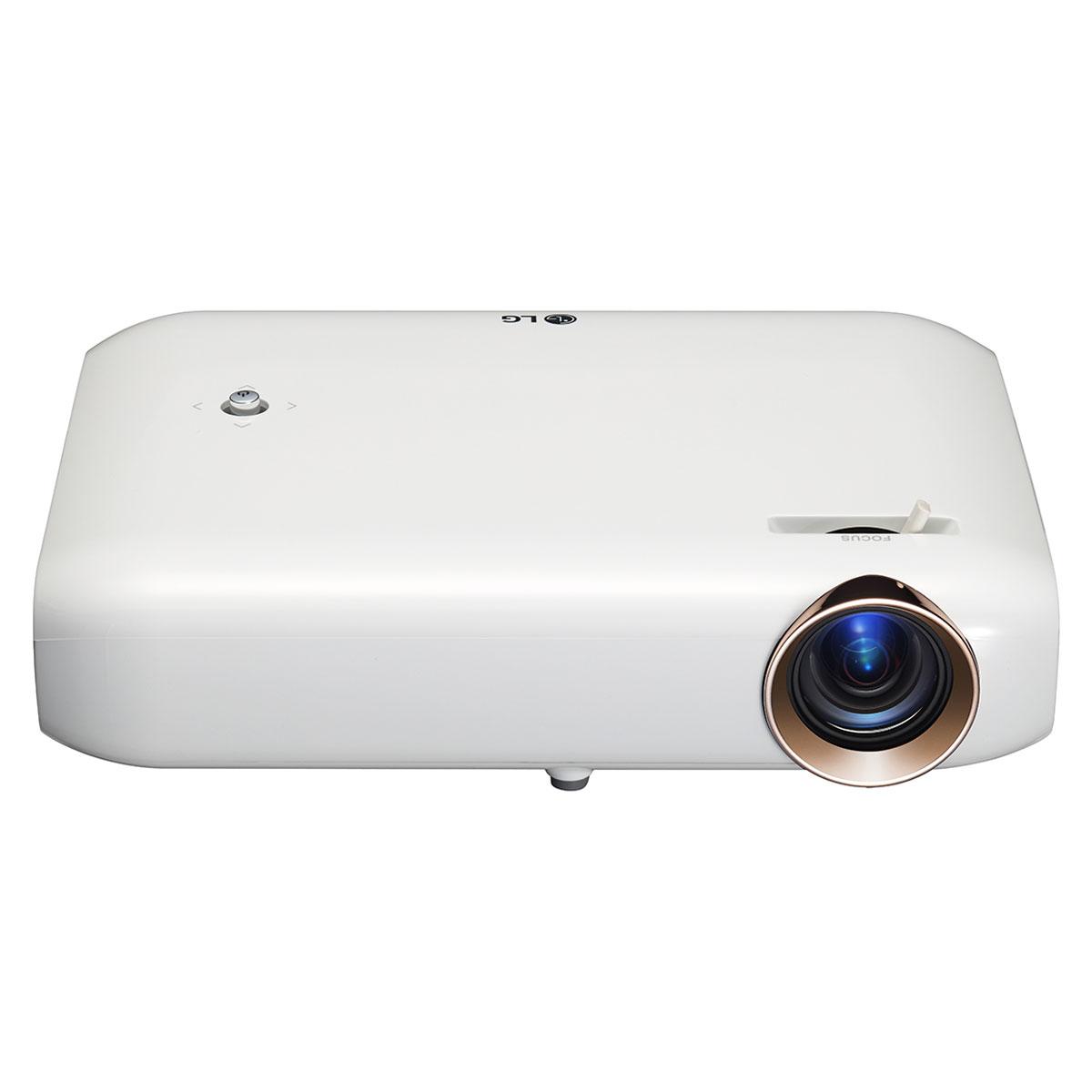 Vidéoprojecteur LG PW1500G Vidéoprojecteur portable DLP 3D WXGA 1500 Lumens avec Bluetooth, WiDi, Miracast, Screen Share, HDMI et USB