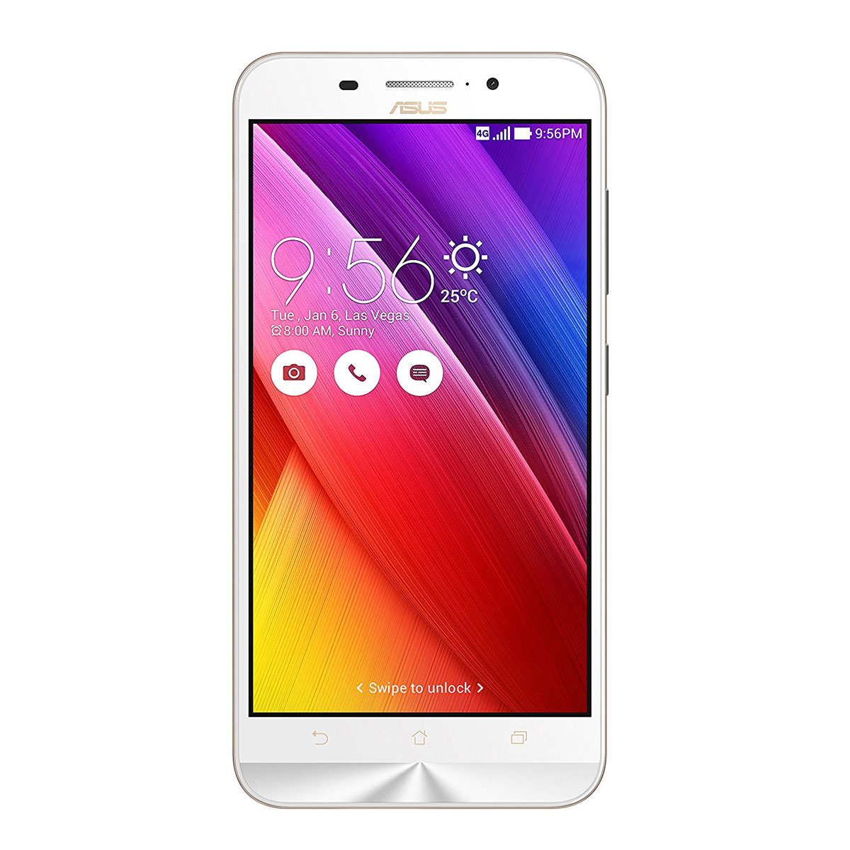 "Mobile & smartphone ASUS Zenfone Max ZC550KL Blanc Smartphone 4G-LTE Dual SIM - Snapdragon 410 Quad-Core 1.2 GHz - RAM 2 Go - Ecran tactile 5.5"" 720 x 1280 - 16 Go - Bluetooth 4.0 - 5000 mAh - Android 5.0"