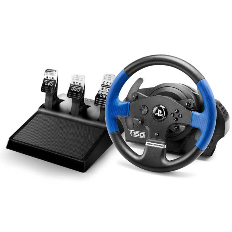 Volant PC Thrustmaster T150 Pro Force Feedback Ensemble volant à retour de force + pédalier compatible PC / PlayStation 3 (PS3) / PlayStation 4 (PS4)