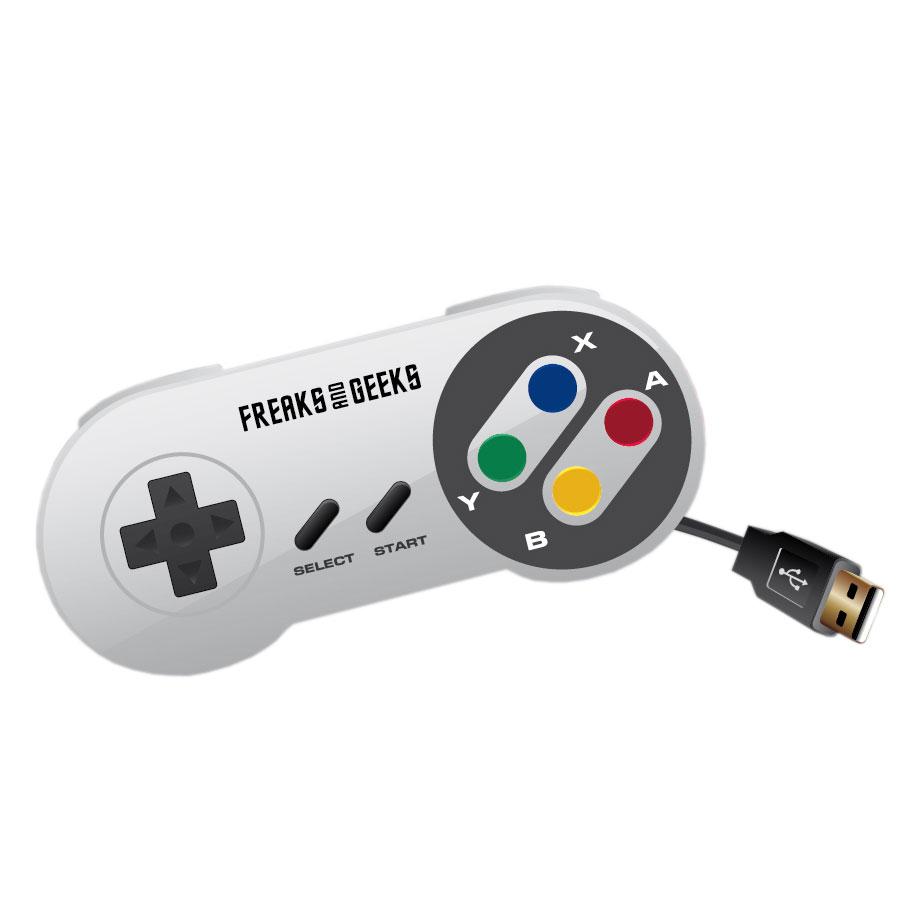 Joypad Manette USB pour rétrogaming (Nintendo Super NES) Manette Super NES filaire USB pour PC et Mac