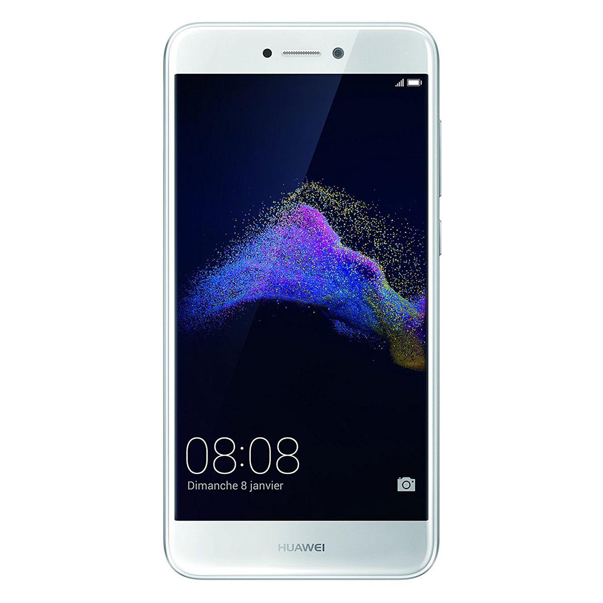"Mobile & smartphone Huawei P8 Lite 2017 Blanc Smartphone 4G-LTE Advanced Dual SIM - Kirin 655 8-Core 2.1 GHz - RAM 3 Go - Ecran tactile 5.2"" 1080 x 1920 - 16 Go - NFC/Bluetooth 4.1 - 3000 mAh - Android 7.0"