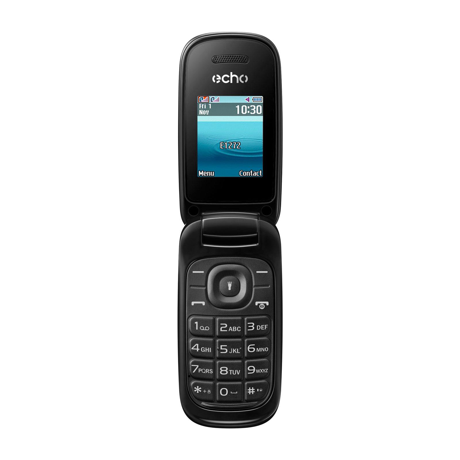 "Mobile & smartphone Echo Clap 2 Noir Téléphone 2G Dual SIM - RAM 32 Mo - Ecran 1.77"" - 32 Mo - Bluetooth 2.1 - 800 mAh"