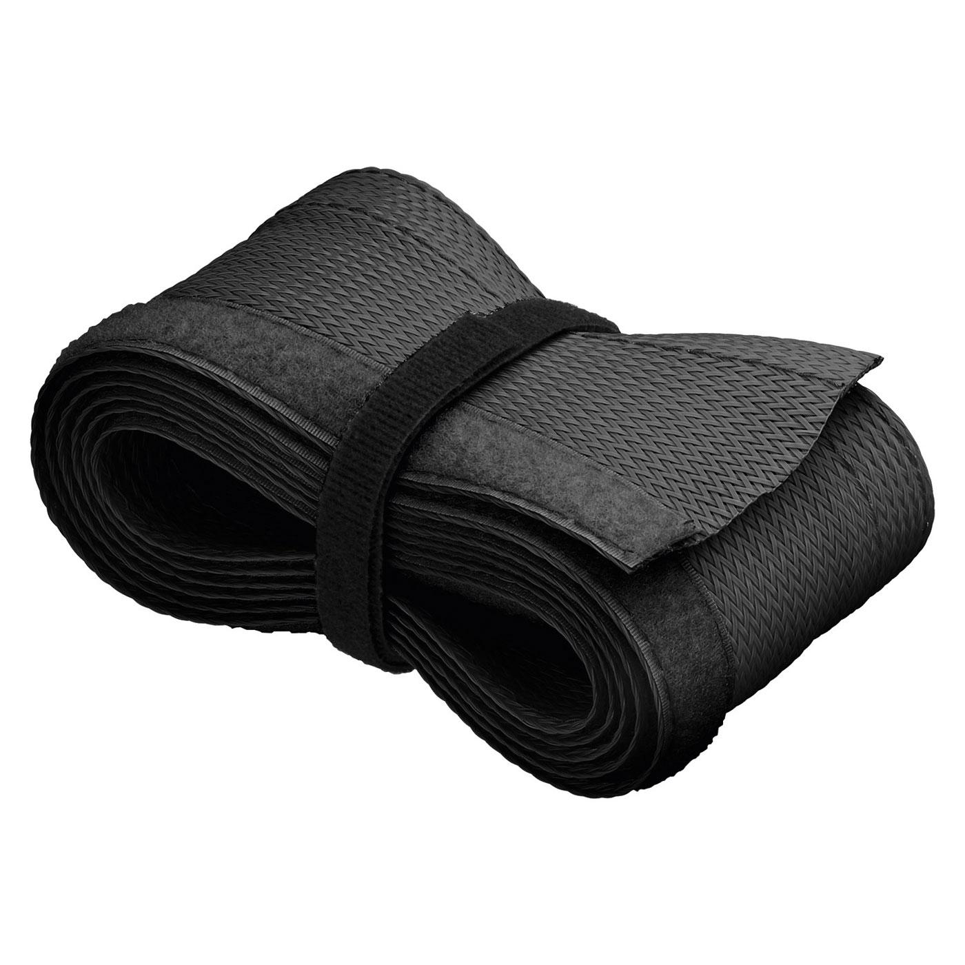 Passe câble Goobay WireSleeve Noir Manchon de câble flexible - 1.8 m