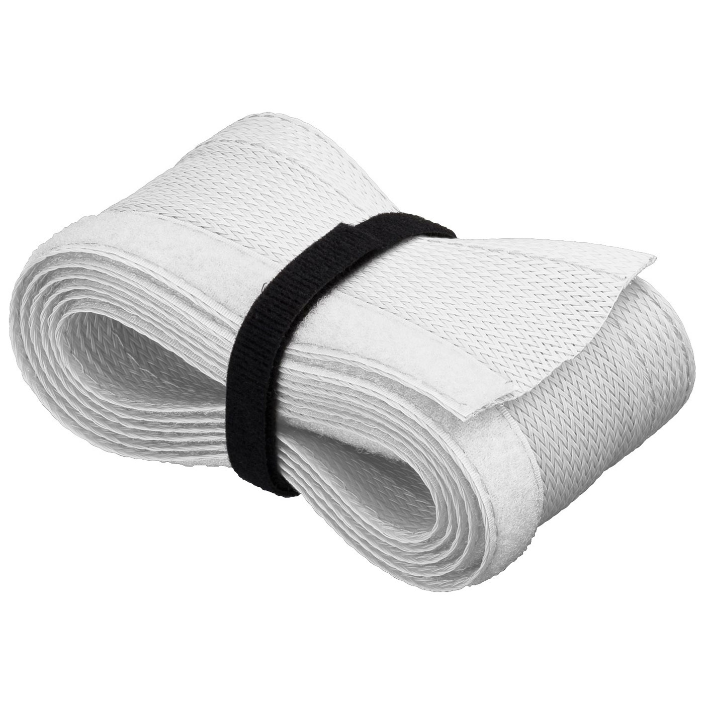 Passe câble Goobay WireSleeve Blanc Manchon de câble flexible - 1.8 m
