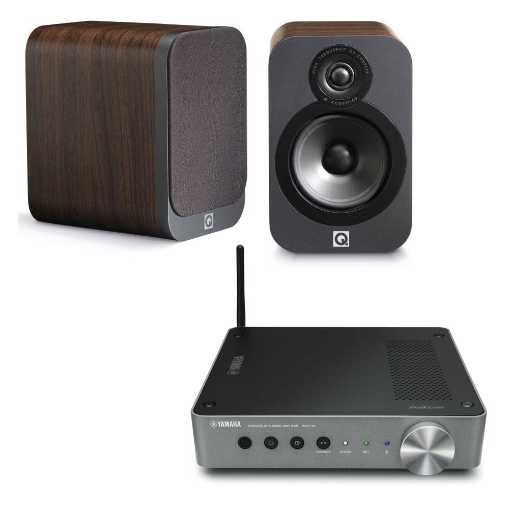 yamaha musiccast wxa 50 q acoustics 3020 bois ensemble hifi yamaha sur. Black Bedroom Furniture Sets. Home Design Ideas