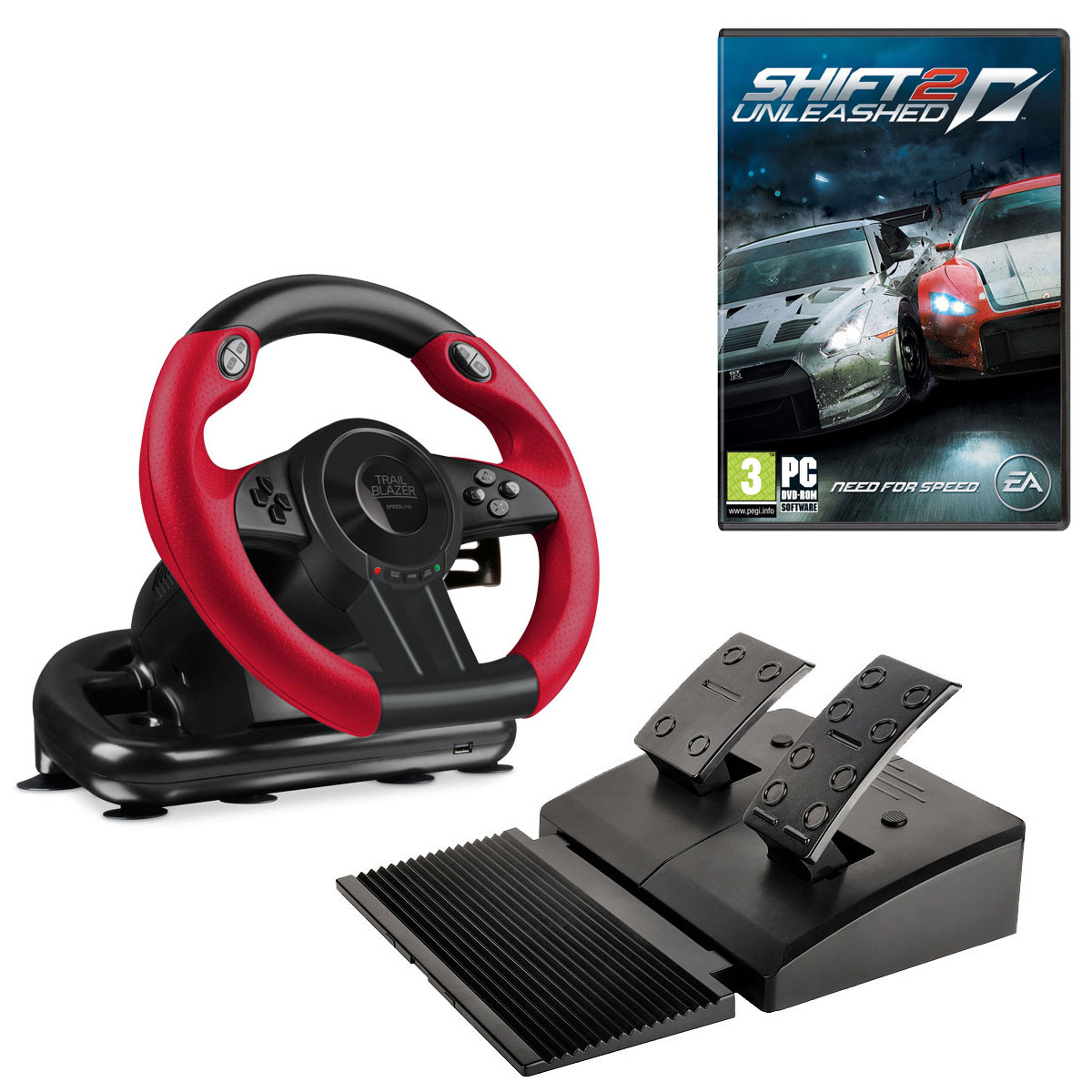 speedlink trailblazer need for speed shift 2 unleashed pc offert volant pc speed link. Black Bedroom Furniture Sets. Home Design Ideas