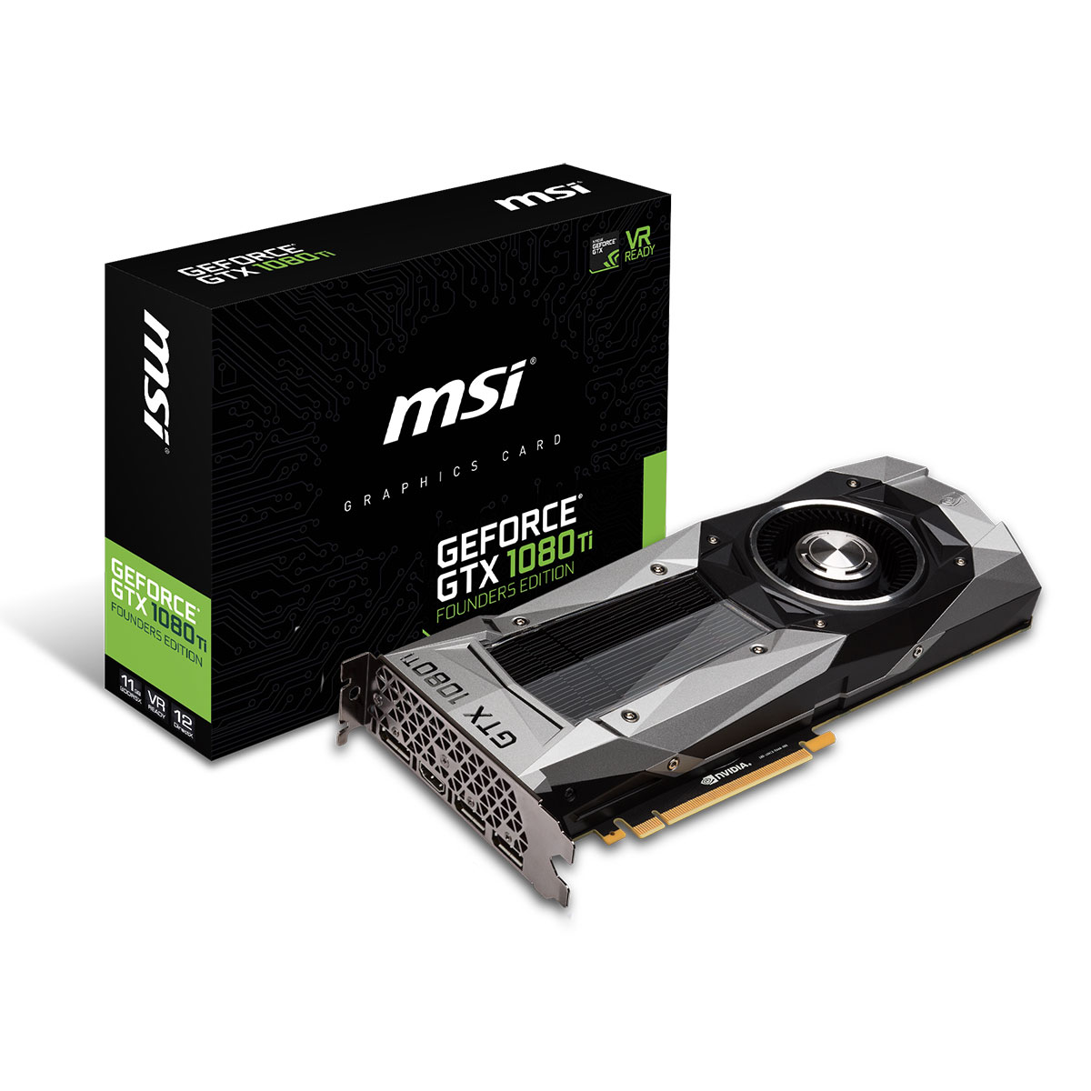 msi geforce gtx 1080 ti founders edition carte graphique msi sur. Black Bedroom Furniture Sets. Home Design Ideas