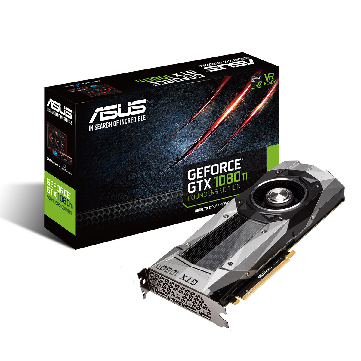 asus geforce gtx 1080 ti founders edition 11 gb carte graphique asus sur. Black Bedroom Furniture Sets. Home Design Ideas