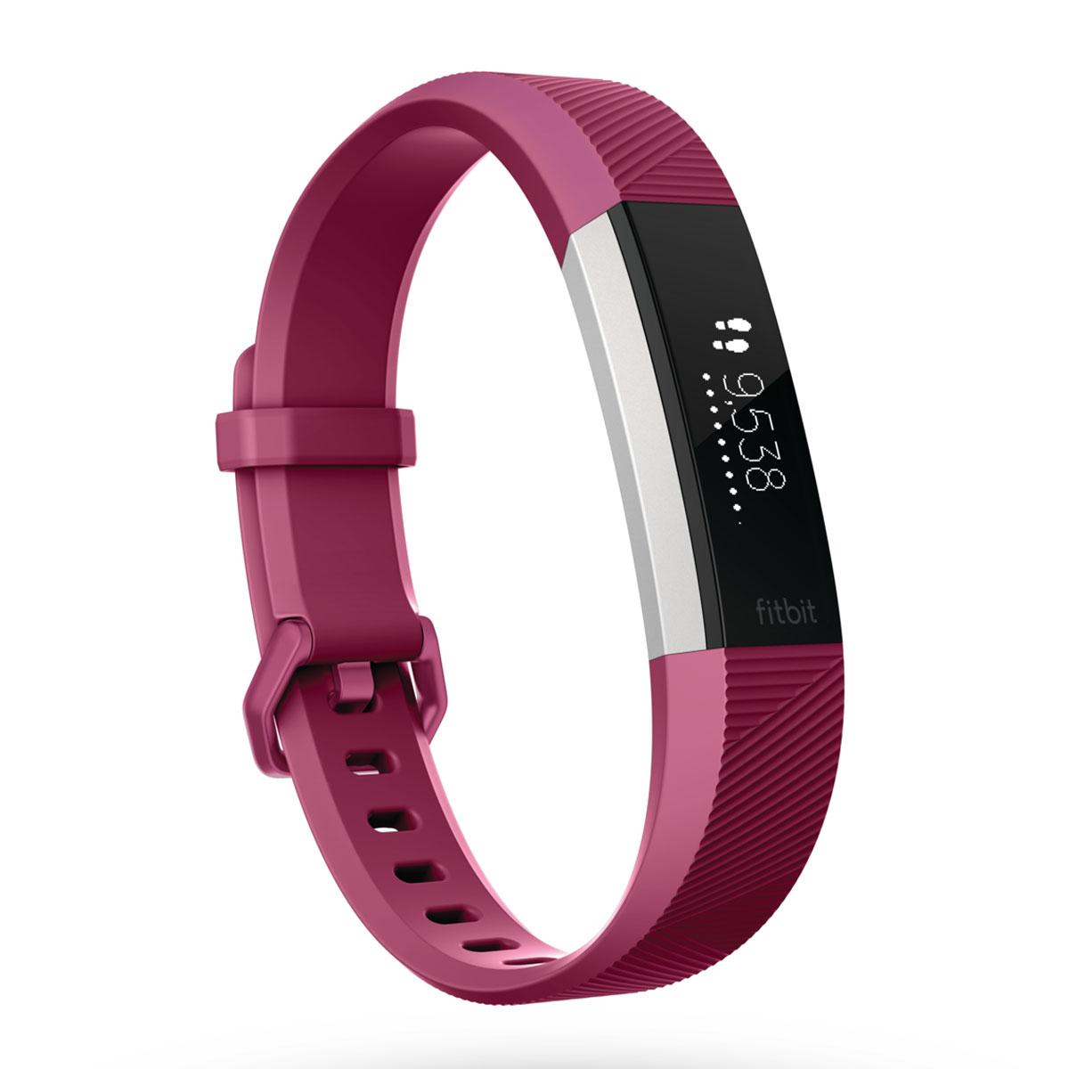 Bracelet connecté Fitbit Alta HR Fuchsia S Coach électronique sans fil amovible résistant à l'eau pour smartphone iOS / Android / Windows