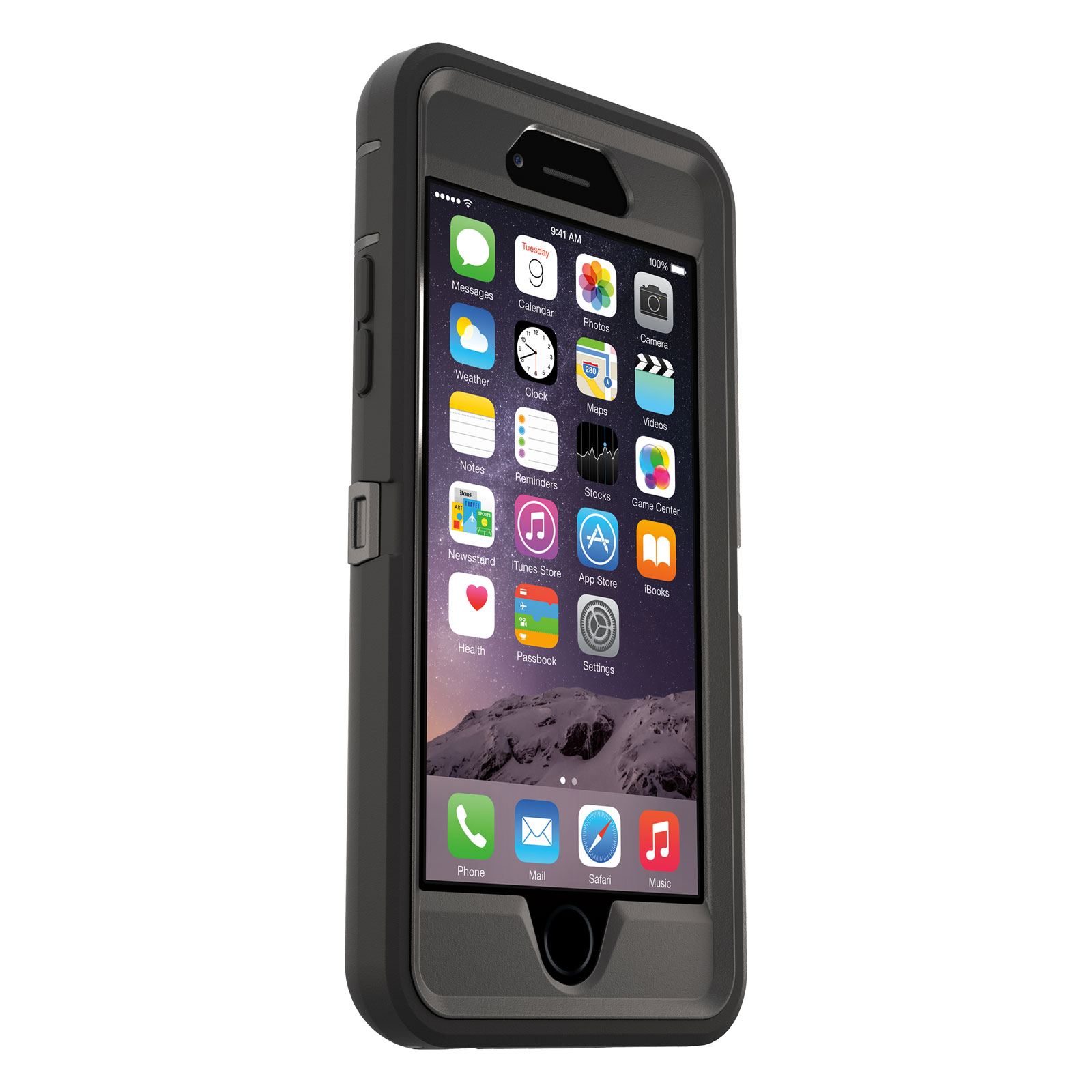 otterbox defender noir iphone 6 6s etui t l phone otterbox sur. Black Bedroom Furniture Sets. Home Design Ideas