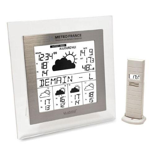 la crosse technology wd9542 transparent aluminium. Black Bedroom Furniture Sets. Home Design Ideas