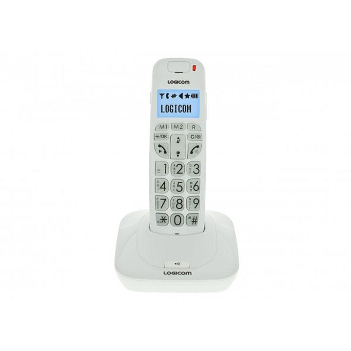 Téléphone sans fil Logicom Confort 150 Blanc Téléphone DECT sans fil pour senior avec haut parleur (version française)