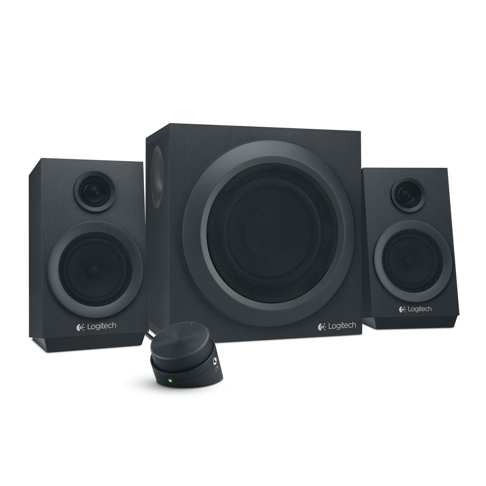 Enceinte PC Logitech Multimedia Speakers Z333 Ensemble 2.1 - 40 Watts - Jack 3.5 mm - boitier de commande