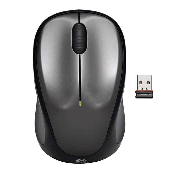 Souris PC Logitech Wireless Mouse M235 (Gris) Souris sans fil - ambidextre - capteur optique 1000 dpi - 3 boutons