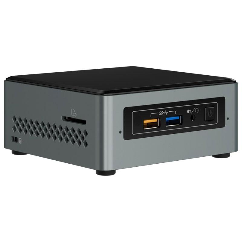 """PC de bureau Intel NUC NUC6CAYS Intel Celeron J3455 2 Go eMMC 32 Go Wi-Fi AC / Bluetooth 4.2 + SATA 2.5"""" Windows 10 Famille 64 bits"""